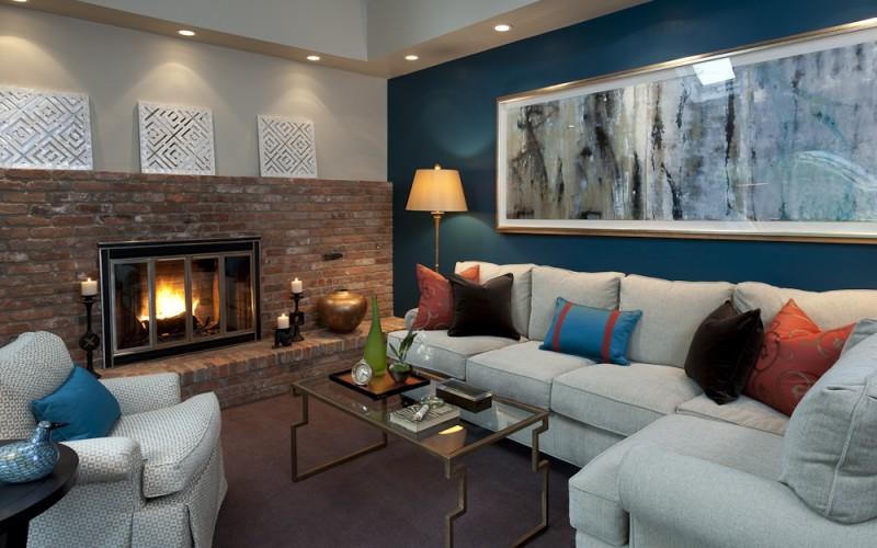 Blue wall den
