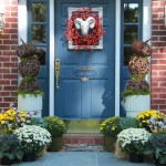 funky fall front door