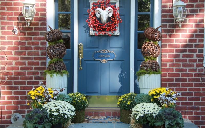 funky fall front door