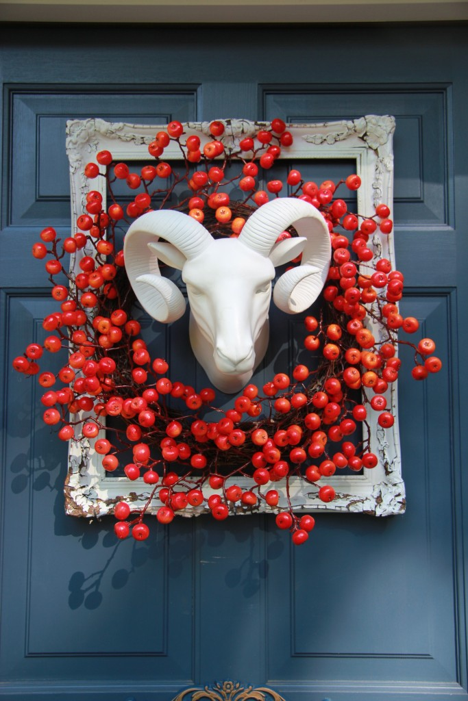 Ram's Head on front door