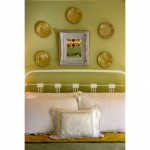 bedroom yellow and green